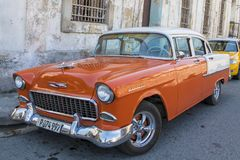 Chevrolet bel air, Kuba Zdjęcia Stock