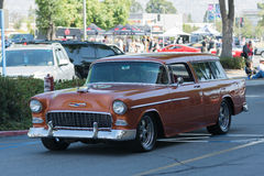 Chevrolet Bel Air Nomad Station Wagon car on display Royalty Free Stock Image