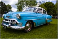 Chevrolet bel air 1953 powder blue Royalty Free Stock Photos