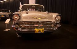 Chevrolet 1957 Bel Air présente sur le Salon de l'Automobile de Tel Aviv photos stock