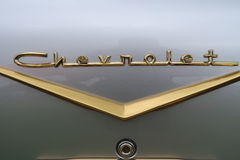 Chevrolet Bel Air Rear Badge Fotografia Stock Libera da Diritti