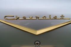 Chevrolet bel air tyły odznaka Zdjęcie Royalty Free