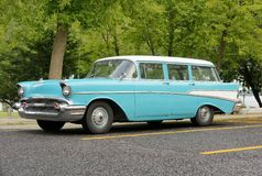 Chevrolet belair. Picture of the chevrolet belair station wagon Royalty Free Stock Photo
