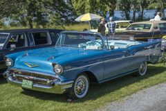 Chevrolet belaircabriolet royaltyfri bild