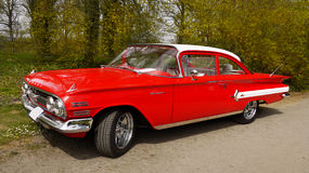 Chevrolet Biscayne, amerikanska klassiska bilar arkivfoto