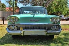 1958 Chevrolet Biscayne 4 Deur vooraanzicht Royalty-vrije Stock Afbeelding