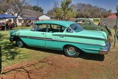 1958 Chevrolet Biscayne 4 Deur zijaanzicht Stock Afbeelding