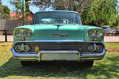 1958 Chevrolet Biscayne 4 Door front view Royalty Free Stock Image