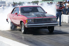 Chevrolet burnout on the track Royalty Free Stock Photo
