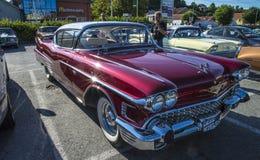 Chevrolet cadillac 1958, klassieke amcar Stock Afbeeldingen