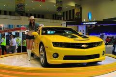 Chevrolet Camaro. KUALA LUMPUR, MALAYSIA - DEC 3: Chevrolet Camaro from Transformers were displayed at Kuala Lumpur International Motor Show on December 3, 2010 Royalty Free Stock Photography