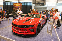 Chevrolet Camaro Chicago Blackhawks Edition. Chicago, IL, United States - February 18, 2017 - Chicago Auto Show: Chevrolet Camaro Chicago Blackhawks Edition on stock photos