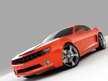 Chevrolet Camaro Concept 2009. Realistic render three-dimensional model of the red Chevrolet Camaro Concept 2009 Stock Images