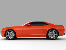Chevrolet Camaro Concept 2009. Realistic render three-dimensional model of the red Chevrolet Camaro Concept 2009 Royalty Free Stock Photo