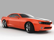 Chevrolet Camaro Concept 2009. Realistic render three-dimensional model of the red Chevrolet Camaro Concept 2009 Stock Photography