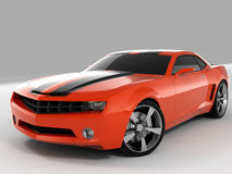 Chevrolet Camaro Concept 2009. Realistic render three-dimensional model of the red Chevrolet Camaro Concept 2009 Royalty Free Stock Photography