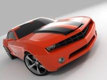 Chevrolet Camaro Concept 2009. Realistic render three-dimensional model of the red Chevrolet Camaro Concept 2009 stock illustration