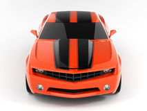Chevrolet Camaro Concept 2009. Realistic render three-dimensional model of the red Chevrolet Camaro Concept 2009 Royalty Free Stock Photos
