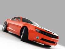 Chevrolet Camaro Concept 2009. Realistic render three-dimensional model of the red Chevrolet Camaro Concept 2009 royalty free illustration