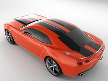 Chevrolet Camaro Concept 2009. Realistic render three-dimensional model of the red Chevrolet Camaro Concept 2009 Stock Photos