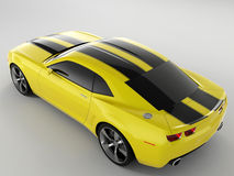 Chevrolet Camaro Concept 2009. Realistic render three-dimensional model of the yellow Chevrolet Camaro Concept 2009 Royalty Free Stock Photography