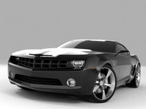 Chevrolet Camaro Concept 2009. Realistic render three-dimensional model of the black Chevrolet Camaro Concept 2009 Royalty Free Stock Images