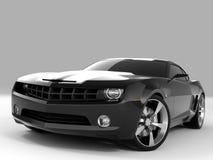 Chevrolet Camaro Concept 2009. Realistic render three-dimensional model of the black Chevrolet Camaro Concept 2009 vector illustration