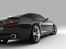 Chevrolet Camaro Concept 2009. Realistic render three-dimensional model of the black Chevrolet Camaro Concept 2009 Royalty Free Stock Photo