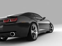 Chevrolet Camaro Concept 2009. Realistic render three-dimensional model of the black Chevrolet Camaro Concept 2009 royalty free illustration