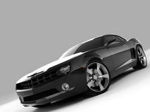 Chevrolet Camaro Concept 2009. Realistic render three-dimensional model of the black Chevrolet Camaro Concept 2009 Stock Photo