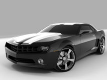 Chevrolet Camaro Concept 2009. Realistic render three-dimensional model of the black Chevrolet Camaro Concept 2009 Royalty Free Stock Photos