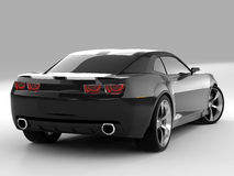 Chevrolet Camaro Concept 2009. Realistic render three-dimensional model of the black Chevrolet Camaro Concept 2009 Royalty Free Stock Photography