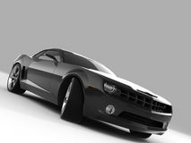 Chevrolet Camaro Concept 2009. Realistic render three-dimensional model of the black Chevrolet Camaro Concept 2009 Royalty Free Stock Image