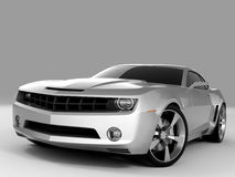 Chevrolet Camaro Concept 2009. Realistic render three-dimensional model of the silvery Chevrolet Camaro Concept 2009 Royalty Free Stock Photo