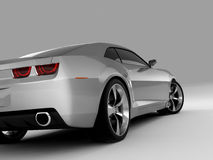 Chevrolet Camaro Concept 2009. Realistic render three-dimensional model of the silvery Chevrolet Camaro Concept 2009 Royalty Free Stock Photos