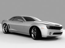 Chevrolet Camaro Concept 2009. Realistic render three-dimensional model of the silvery Chevrolet Camaro Concept 2009 Royalty Free Stock Images