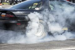 Chevrolet camaro dymu przedstawienie Obraz Royalty Free