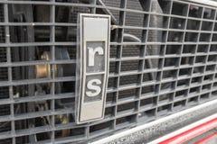 Chevrolet Camaro emblemat na pokazie Zdjęcia Royalty Free