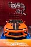 2018 Chevrolet Camaro Gorący koła 50th Rocznicowy wydanie, jezierze Obrazy Royalty Free