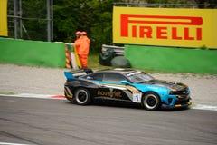 Chevrolet Camaro GT4 car racing at Monza Stock Image
