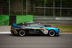 Chevrolet Camaro GT4 car racing at Monza Royalty Free Stock Photo