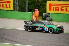 Chevrolet Camaro GT4 car racing at Monza Royalty Free Stock Photos