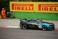 Chevrolet Camaro GT4 car racing at Monza Stock Photo
