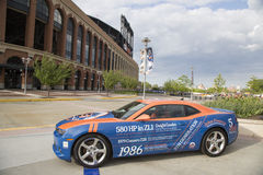 Chevrolet Camaro Mets Special Edition car in the front of the Citi Field Stock Image