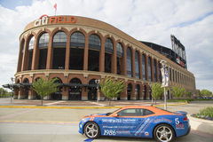 Chevrolet Camaro Mets Special Edition car in the front of the Citi Field Royalty Free Stock Photos