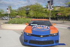 Chevrolet Camaro Mets Special Edition car in the front of the Citi Field Royalty Free Stock Photo