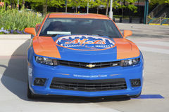 Chevrolet Camaro Mets Special Edition car in the front of the Citi Field Stock Photos