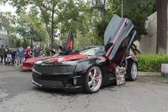 Chevrolet Camaro op vertoning Stock Afbeeldingen