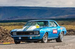 1969 Chevrolet Camaro. Photo of a 1969 Chevrolet Camaro muscle car at drag racing event in Iceland 2012 Stock Images