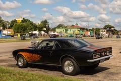 1969 Chevrolet Camaro, pub irlandese del ` s di Duggan, crociera di sogno di Woodward, MI Immagini Stock